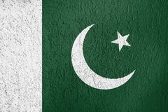 Texture of Pakistan flag. The texture of Pakistan flag on the wall of the plaster Royalty Free Stock Images
