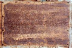 Texture - panneau rouillé en métal images libres de droits