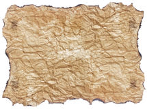 Texture  paper with burnt edges Royalty Free Stock Photography