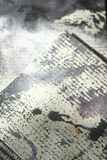 Texture of paper. With ink and paint blots royalty free stock photography