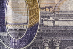 Texture paper, paper money fragment. Royalty Free Stock Images