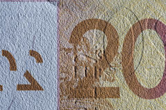 Texture paper, paper money fragment. Royalty Free Stock Photo