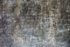The texture of the paper. A sheet of dark gray paper. Aged inscriptions royalty free stock photo