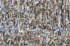 Texture of paper shredded wall.  Royalty Free Stock Photography
