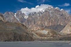 Texture of Passu cathedral peak, Hunza valley, Gilgit, Pakistan Royalty Free Stock Photos