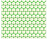 Texture pattern of an apple cut Royalty Free Stock Images