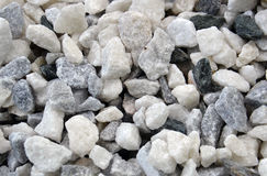 Texture, pattern, background. marble chips for landscaping pebbles close-up samples Stock Image