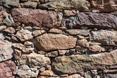 Texture, pattern, background of old stone wall Stock Photos