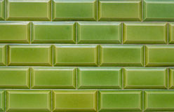Texture, pattern, background, wallpaper of green clinker bricks Stock Photo
