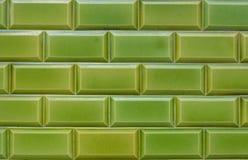Texture, pattern, background, wallpaper of green clinker bricks stock photo