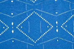 Texture pattern. Cloth blue dense with perforated holes. For the. Avant-garde or not very serious take in your design. Covered in different areas round holes stock images