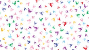 Texture pattern seamless from cheerful iridescent beautiful unique luxurious hearts. Back background Vector illustration stock illustration