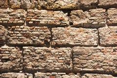 Brick wall pattern image,brick wall pattern viewing, masonry, brick wall pattern picture, texture, wallpaper. Wall composed of large blocks made with bricks of Royalty Free Stock Photos