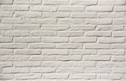 Texture,brickwall. Wall made with bricks of clay filled covered by white paint Stock Images