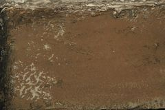 Old brown wall with textured pattern royalty free stock images