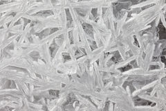 Texture patterns of ice crystals closeup Stock Image