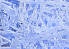 Texture patterns of ice crystals closeup Stock Photo