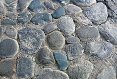 Texture of the pavement of big boulders Stock Images