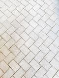 The texture of paving slabs gray.  The road from gray old paving slabs. royalty free stock photo