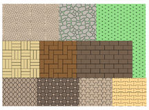 The texture of paving slabs Stock Image