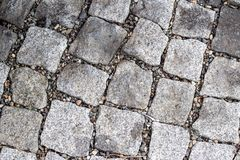 The texture of paving stones, stone road. royalty free stock image