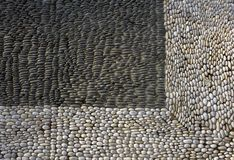 Texture of pebble paving. Gray paving made of pebble. Gray paving made of pebble. Texture of pebble paving royalty free stock image