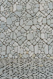 Texture of pebble stones wall. For background Stock Image