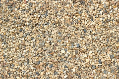 Texture of pebbles. Small beautiful colorful pebbles, Multicolored little rocky background stock photo