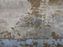 Texture of peeled plaster at old house. Old wall with crags. Royalty Free Stock Photography