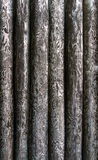 Texture of peeled, vertical tree trunks Stock Image
