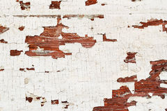 Texture with peeling paint wooden surface, old aged background. Place for your text Royalty Free Stock Images