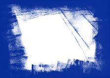 Texture peinte à la main bleue et blanche de fond illustration de vecteur