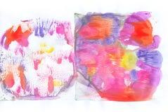 Texture peinte par abstrait Photos stock