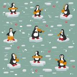 Texture. Penguin Orchestra. royalty free illustration