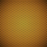 Texture perforée de gril de cercle sans couture orange Photos stock