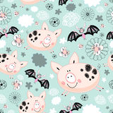 Texture of pigs and bats Stock Photos