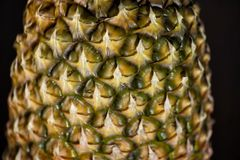 Texture of Pineapple Skin stock photo