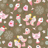 Texture of the pink birds Royalty Free Stock Photography