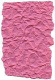 Pink Fiber Paper - Crumpled with Torn Edges Royalty Free Stock Photo