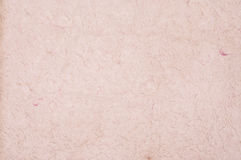 Texture of pink natural fiber paper, old paper. Royalty Free Stock Image