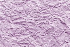 Texture of pink wrinkled paper. Closeup royalty free stock image