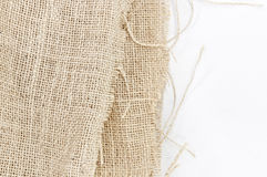 Texture of plait brown sack, hessian Royalty Free Stock Images