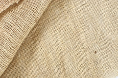 Texture of plait brown sack, hessian Royalty Free Stock Photo