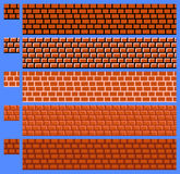 Texture for platformers pixel art vector - brick wall Stock Images