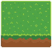 Texture for platformers pixel art vector - ground Stock Image