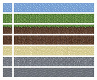 Texture for platformers pixel art vector - mud grass stone ground tile  Stock Photography