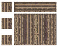 Texture for platformers pixel art vector - stone ancient column block. On white stock illustration