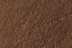 Texture plowed, cultivated land. Stock Photo
