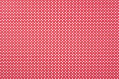 Texture of polka dot pattern. On red background stock illustration