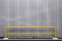 Texture polycarbonate cells with yellow bar. For parking Stock Photography